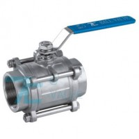 3 PC Ball Valve Stainless Steel 316 Screwed End