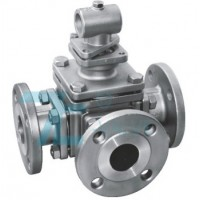 3 Way Ball Valve Stainless Steel 304 L port or T port  ANSI 150LB Flange End