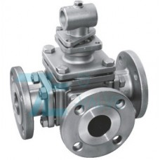 3 Way Ball Valve Stainless Steel 316 L port or T port  JIS 10K Flange End