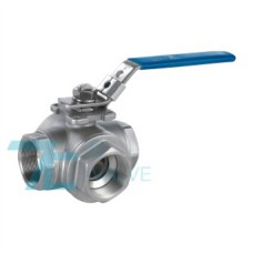 3 Way Ball Valve Stainless Steel 316 L port or T port Screwed End